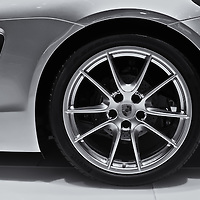 """""""2013 Porsche Boxster Wheel""""<br /> <br /> A beautiful image in B&W of the Porsche Boxster Wheel and side vent.<br /> <br /> Cars and their Details by Rachel Cohen"""