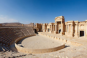 Theatre, Palmyra, Syria. Ancient city in the desert that fell into disuse after the 16th century.