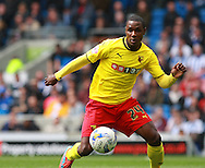 Watford Odion Jude Ighalo during the Sky Bet Championship match between Brighton and Hove Albion and Watford at the American Express Community Stadium, Brighton and Hove, England on 25 April 2015. Photo by Phil Duncan.