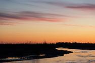 Evening light on the Tanana River near Delta Junction, Alaska