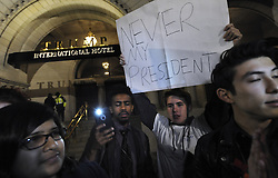 November 11, 2016 - Washington, DC, USA - Protests erupt over 2016 Presidential election results in Washington DC with Donald Trump winning over Hillary Clinton. Clinton supporters take to the streets, stopping at Trump hotel, the White House and Capitol.  ''This is the revolution,'' they declared. Not My President Protest(Credit Image: © Carol Guzy via ZUMA Wire)