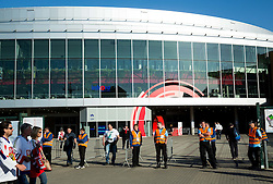 Arena O2 during Ice Hockey match between Canada and Belarus at Quarterfinals of 2015 IIHF World Championship, on May 14, 2015 in O2 Arena, Prague, Czech Republic. Photo by Vid Ponikvar / Sportida