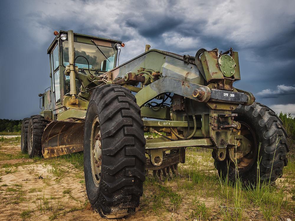 Tractor in Battle Dress Uniform (BDU) Paint Scheme. Enterprise, AL