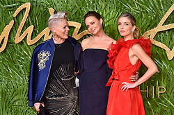 Pink, Stella McCartney and Annabelle Wallis attending the Fashion Awards 2017, in partnership with Swarovski, held at the Royal Albert Hall, London. Picture Date: Monday 4th December, 2017. Photo credit should read: Matt Crossick/PA Wire