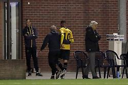 (L-R) caretaker Chris van der Veeken of NAC Breda, Rai Vloet of NAC Breda during the First round Dutch Cup match between Achilles 29 and NAC Breda at Sportpark de Heikant  on September 20, 2017 in Groesbeek, the Netherlands