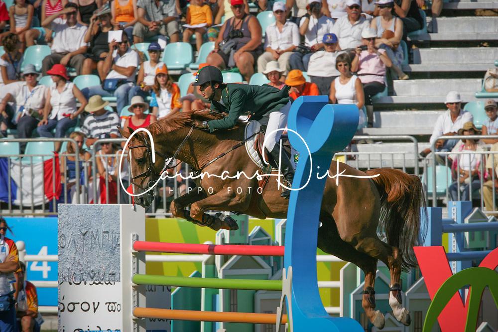 Pessoa Rodrigo, BRA, Baloubet du Rouet<br /> Olympic Games Athens 2004<br /> © Hippo Foto - Dirk Caremans<br /> 27/08/04