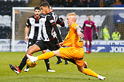 Craig Sibbald of Livingston stretches to block the pass  during the Ladbrokes Scottish Premiership match between St Mirren and Livingston at the Simple Digital Arena, Paisley, Scotland on 2nd March 2019.