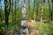 Religious staue of Mary in the forest near Koszeg, Hungary .<br /> <br /> Visit our HUNGARY HISTORIC PLACES PHOTO COLLECTIONS for more photos to download or buy as wall art prints https://funkystock.photoshelter.com/gallery-collection/Pictures-Images-of-Hungary-Photos-of-Hungarian-Historic-Landmark-Sites/C0000Te8AnPgxjRg