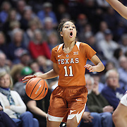 UNCASVILLE, CONNECTICUT- DECEMBER 4: Brooke McCarty #11 of the Texas Longhorns in action during the UConn Huskies Vs Texas Longhorns, NCAA Women's Basketball game in the Jimmy V Classic on December 4th, 2016 at the Mohegan Sun Arena, Uncasville, Connecticut. (Photo by Tim Clayton/Corbis via Getty Images)