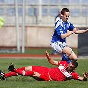 Finland's Juha HAKOLA (R) during their international friendly soccer match Turkey A2 betwen Finland A2 at Recep Tayyip Erdogan stadium in Istanbul March 25, 2011. Photo by TURKPIX