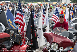 Staging area for 6,000 plus bikes for the big parade downtown during the Harley-Davidson 115th Anniversary Celebration event. Milwaukee, WI. USA. Sunday September 2, 2018. Photography ©2018 Michael Lichter.Harley-Davidson 115th Anniversary Celebration event. Milwaukee, WI. USA. Sunday September 2, 2018. Photography ©2018 Michael Lichter.