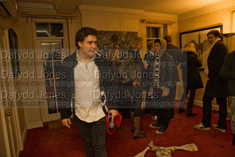 ADAM WAYMOUTH, Come and Check My Gaff. Mixed exhibition in an empty house in Chelsea. I Petyt Place. London. 16 December 2008. Exhibition on until 21 December.  *** Local Caption *** -DO NOT ARCHIVE-© Copyright Photograph by Dafydd Jones. 248 Clapham Rd. London SW9 0PZ. Tel 0207 820 0771. www.dafjones.com.<br /> ADAM WAYMOUTH, Come and Check My Gaff. Mixed exhibition in an empty house in Chelsea. I Petyt Place. London. 16 December 2008. Exhibition on until 21 December.