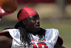 19 August 2017:  Davontae Harris during 2017 Illinois State Redbirds Football Red-White Scrimmage at Hancock Stadium in Normal IL (Photo by Alan Look)