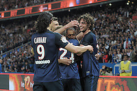 joie PSG / Adrien Rabiot / Edinson Cavani - 23.05.2015 - PSG / Reims - 38eme journee de Ligue 1<br />