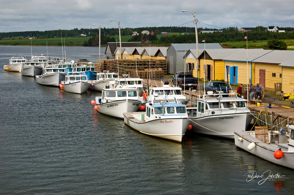 Long liners and lobster traps in North Lake harbour, North Lake, PE/PEI, Canada