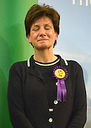 © Licensed to London News Pictures. 01/03/2013. Eastleigh, UK UKIP DIANE JAMES comes second in the Eastleigh by-election. The voters of Eastleigh vote to choose a new MP in a by-election prompted by the resignation of former Lib Dem cabinet minister Chris Huhne. Polling will continued 22:00 GMT 28/02/13, with votes counted overnight on Thursday. There are 14 candidates in total on the ballot papers.. Photo credit : Stephen Simpson/LNP
