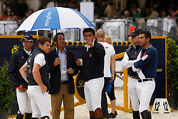 Marcus Fuchs and the Italian team<br /> Meydan FEI Nations Cup - Rome 2010<br /> © Hippofoto - Stefano Grasso