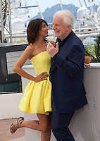 Actress Florence Foresti and actor Andre Dussollier at the The Little Prince – Le Petit Prince film photo call at the 68th Cannes Film Festival Friday 22nd May 2015, Cannes, France.