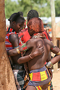 Hamar tribe couple Omo River Valley, Ethiopia