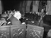 Remembrance Day Service.1983.13.11.1983.11.13.1983.13th November 1983..A remembrance service was held in St Patrick's Cathederal, Dublin,(Poppy Day) to commerate the Irish Fallen who died  whilst on service with the British Army in the two World Wars..Image of the congregation as they await the start of the service.