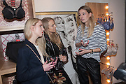 ALICE ZIELASKO; SANDRA HAGELSTAM; CAMILLE CHARRIER, Maison Triumph launch to celebrate the beginning of London fashion week. Monmouth St. 14 February 2013.