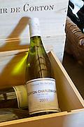 wooden cases corton charlemagne dom m juillot mercurey burgundy france