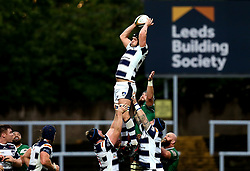 Ryan Burrows of Yorkshire Carnegie catches the ball from a line out - Mandatory by-line: Robbie Stephenson/JMP - 17/05/2017 - RUGBY - Headingley Carnegie Stadium - Leeds, England - Yorkshire Carnegie v London Irish - Greene King IPA Championship Final 1st Leg