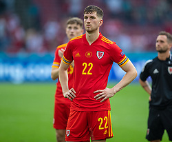 AMSTERDAM, THE NETHERLANDS - Saturday, June 26, 2021: Wales' Chris Mepham looks dejected after the UEFA Euro 2020 Round of 16 match between Wales and Denmark at the  Amsterdam Arena. Denmark won 4-0. (Photo by David Rawcliffe/Propaganda)
