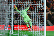 Fine save from Everton goalkeeper Joel Robles   during the Capital One Cup match between Middlesbrough and Everton at the Riverside Stadium, Middlesbrough, England on 1 December 2015. Photo by Simon Davies.