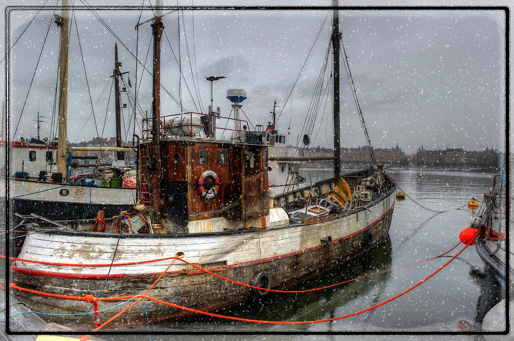 Snowing on board