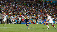 Argentina's Rodrigo Palacio on his way to lift the ball over Germany's Manuel Neuer but his shot goes just wide during the 2014 FIFA World Cup Final match at Maracana Stadium, Rio de Janeiro<br /> Picture by Andrew Tobin/Focus Images Ltd +44 7710 761829<br /> 13/07/2014