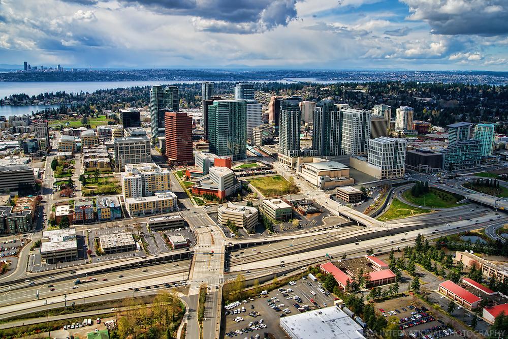 Downtown Bellevue & Downtown Seattle