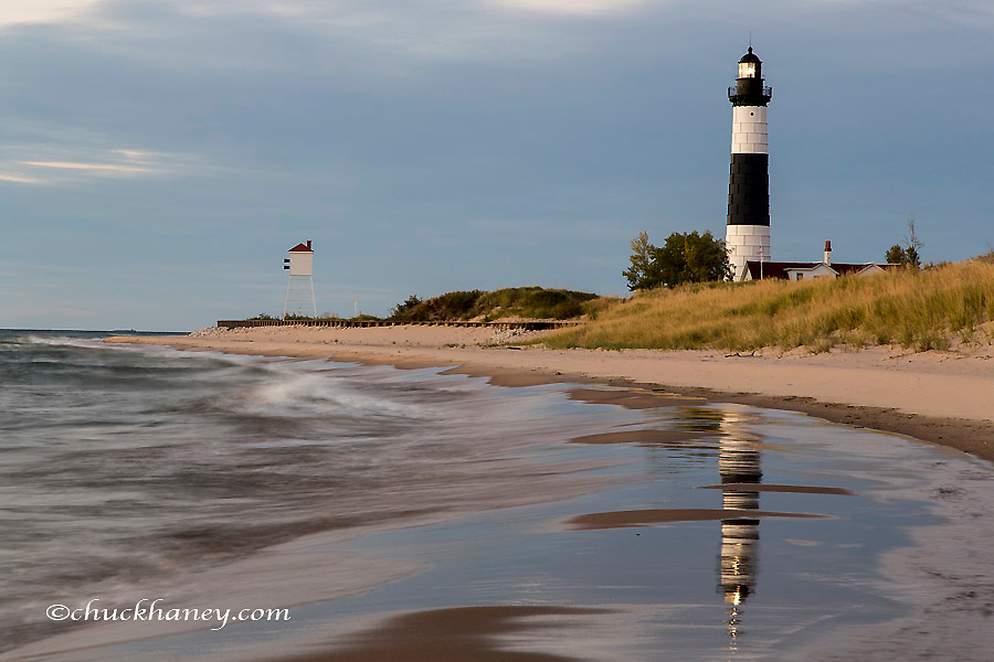 Big Sable Point Lighthouse on Lake Michigan at Ludington State Park, Michigan, USA