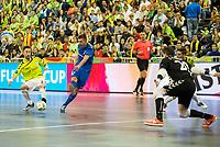 Ugra Yugorsk's Ivan Chishkala and Inter FS's Mario Rivillos and Jesus Herreros during UEFA Futsal Cup 2015/2016 Final match. April 22,2016. (ALTERPHOTOS/Acero)