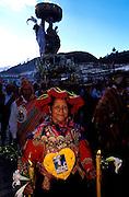 PERU, CUZCO, FESTIVALS Corpus Christi procession of santos