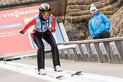 February 8, 2019 - Ljubno, Savinjska, Slovenia - Daniela Haralambie of Romania on first competition day of the FIS Ski Jumping World Cup Ladies Ljubno on February 8, 2019 in Ljubno, Slovenia. (Credit Image: © Rok Rakun/Pacific Press via ZUMA Wire)