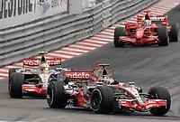 Motor<br /> Formel 1<br /> Foto: Dppi/Digitalsport<br /> NORWAY ONLY<br /> <br /> MOTORSPORT - F1 2007 - MONACO GP - 23/05 TO 27/05/2007<br /> <br /> FERNANDO ALONSO (SPA) / MCLAREN MERCEDES MP4/22 - ACTION<br /> LEWIS HAMILTON (GBR) / MCLAREN MERCEDES MP4/22 - ACTION