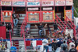 California Hellriders Wall of Death at the Iron Horse Saloon during Biketoberfest. Ormond Beach, FL, USA. Thursday October 19, 2017. Photography ©2017 Michael Lichter.