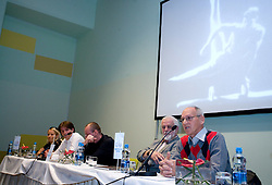 """Miro Cerar at presentation of a new book of one of the best Slovenian gymnast Miro Cerar named """"Miroslav Cerar in njegov cas - Miroslav Cerar and his time"""" at his 70 years anniversary, on October 30, 2009, in Hotel Mons, Ljubljana, Slovenia.   (Photo by Vid Ponikvar / Sportida)"""