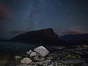 Stars in the night sky over the Eagle's Nest Mountain in Killarney National Park.<br /> Photo Don MacMonagle - macmonagle.com