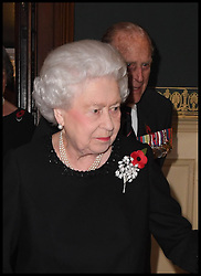 November 12, 2016 - London, United Kingdom - Image ¬©Licensed to i-Images Picture Agency. 12/11/2016. London, United Kingdom. Royal Festival of Remembrance. ...Queen Elizabeth II and the Duke of Edinburgh arrive at the annual Royal Festival of Remembrance at the Royal Albert Hall in London..Picture by  i-Images / Pool (Credit Image: © i-Images via ZUMA Wire)