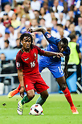 Renato Sanches from Portugal during the match against France. Portugal won the Euro Cup beating in the final home team France at Saint Denis stadium in Paris, after winning on extra-time by 1-0.