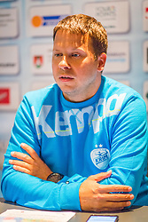 Uros Bregar during press conference of RK Krim Mercator before season 2016/2017, on August 17, 2016 in Ljubljana, Slovenia. Photo by Ziga Zupan / Sportida
