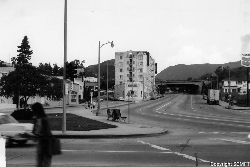1971 Looking north on Cahuenga Blvd. at Franklin Ave.