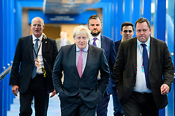 © Licensed to London News Pictures. 03/10/2016. Birmingham, UK. British foreign Secretary BORIS JOHNSON (centre) seen with his aide WILL WALDEN (right) at day two of the 2016 Conservative Party Conference. Walden, who followed Boris Johnson from City Hall, will no longer be working under the foreign sec after Downing Street refused to sign off on the appointment. Photo credit: Ben Cawthra/LNP