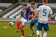 Scotland's Andrew Winter (Hamilton Academical) holds off Ivan Shmakov during the U17 European Championships match between Scotland and Russia at Simple Digital Arena, Paisley, Scotland on 23 March 2019.