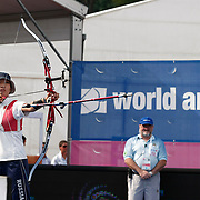 Inna STEPANOVA (RUS) competes in Archery World Cup Final in Istanbul, Turkey, Sunday, September 25, 2011. Photo by TURKPIX