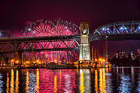 Burrard Bridge & False Creek, Celebration of Light 2017