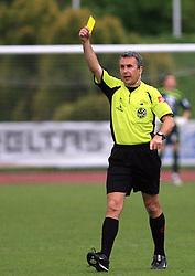 Referee Andrej Tratnjek at 29th Round of Slovenian First League football match between NK Interblock and NK Primorje at ZAK Stadium, on April 20, 2009, in Ljubljana, Slovenia. (Photo by Vid Ponikvar / Sportida)