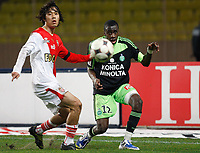 Fotball<br /> Frankrike<br /> Foto: DPPI/Digitalsport<br /> NORWAY ONLY<br /> <br /> FOOTBALL - FRENCH CHAMPIONSHIP 2008/2009 - L1 - AS MONACO FC v AS SAINT ETIENNE - 01/03/2009 - BLAISE MATUIDI (ASSE) / CHU YOUNG PARK (MON)